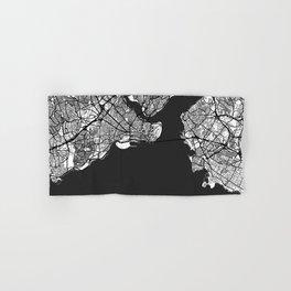 Istanbul Map Gray Hand & Bath Towel