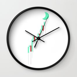 Candle to the MOON Wall Clock