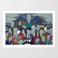 Twin Peaks (variant) Art Print