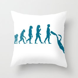 Apnea Evo Freediving Gifts For Apnea Freedivers Throw Pillow