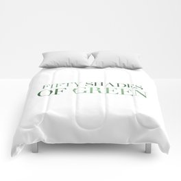 Fifty Shades Of Green Comforters