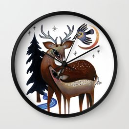Father & Daughter Wall Clock