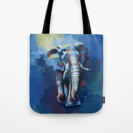 Elephant Dream - Colorful wild animal digital painting Tote Bag