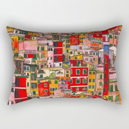 Manarola, Italy  Rectangular Pillow