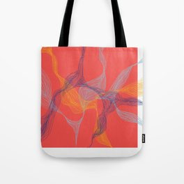 Lost in Lines [RED] Tote Bag