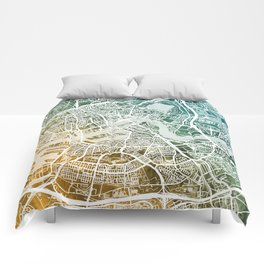 Rotterdam Netherlands City Map Comforters