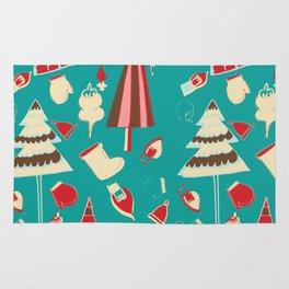 Vintage Christmas Teal Rug