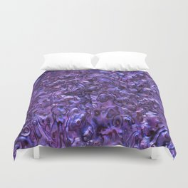 Abalone Shell | Paua Shell | Sea Shells | Patterns in Nature | Violet Tint | Duvet Cover
