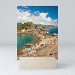 Sunbathing at the islet Mini Art Print