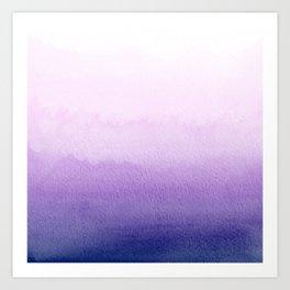 Purple Watercolor Design Art Print