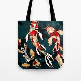 Metallic Koi Tote Bag