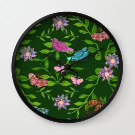 zakiaz magical forest Wall Clock