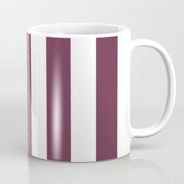 Wine dregs purple - solid color - white vertical lines pattern Coffee Mug