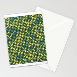 Metaballs Pattern (Green Yellow) Stationery Cards