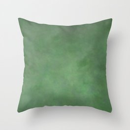 Abstract Soft Watercolor Gradient Ombre Blend 1 Deep Dark Green and Light Green Throw Pillow
