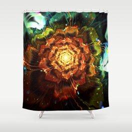 Submerged Flower Shower Curtain