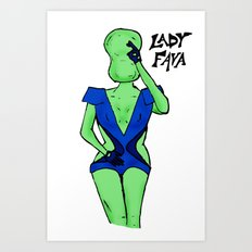 Lady Fava Art Print