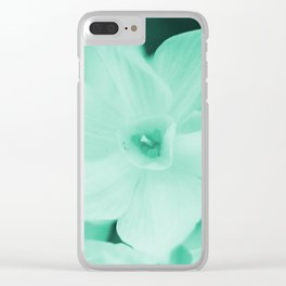 Paperwhites -- mint green Clear iPhone Case