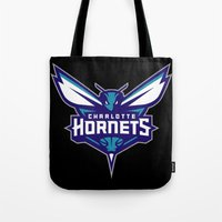 nba Tote Bags featuring NBA - Hornets by Katieb1013