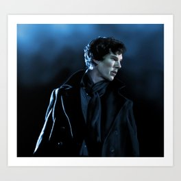 Sherlock in the unaired pilot Art Print