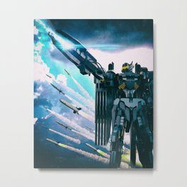 Robot Drama Metal Print
