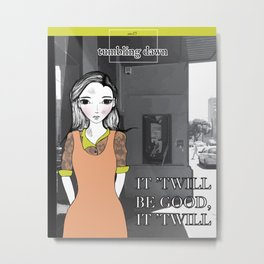 November Girl #3 Metal Print
