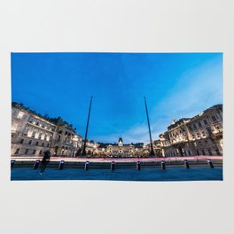 The square of Trieste during Christmas time Rug