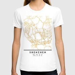 SHENZHEN CHINA CITY STREET MAP ART T-shirt