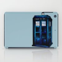 tardis iPad Cases featuring tardis by Melissa Nocero
