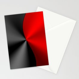 Slick masculine black and red metallic design Stationery Cards