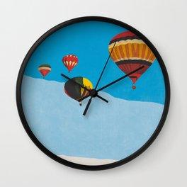 Four Hot Air Balloons Wall Clock