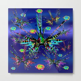 Lionfish Psychedelic Parade Metal Print
