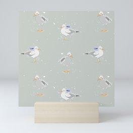 Westcoast Seagulls Sailor Nautical Fun Mini Art Print
