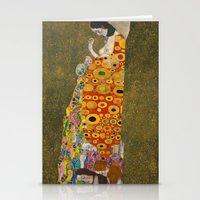 gustav klimt Stationery Cards featuring Gustav Klimt - Hope, II by TilenHrovatic