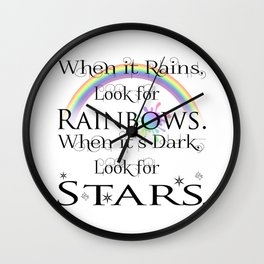 When it Rains... Wall Clock