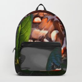 """""""As Daylight Ends"""" - Cecropia Moth Painting Backpack"""