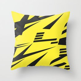 Dazzle yellow large Throw Pillow