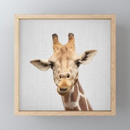 Giraffe 2 - Colorful Framed Mini Art Print