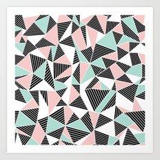 AbLines with Blush Mint Blocks Art Print