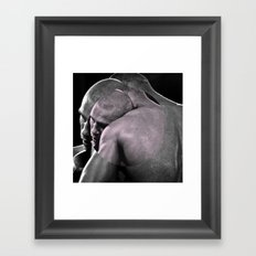 HOW TO HOLD A NICE GUY Framed Art Print