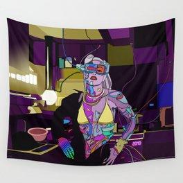 Gen Stefani 80s Cyberpunk singer Wall Tapestry