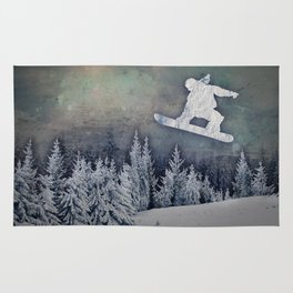 The Snowboarder Rug