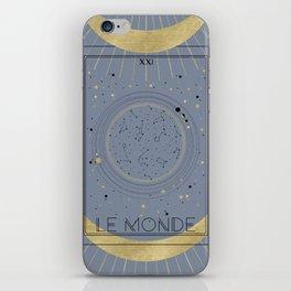 The World or Le Monde Tarot iPhone Skin