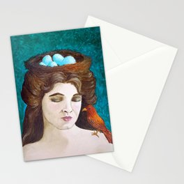 The Nest by Mary Bottom Stationery Cards