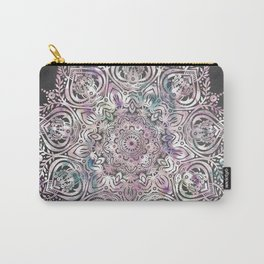 Dreams Mandala - Magical Purple on Gray Carry-All Pouch