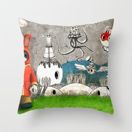 Super Bunny Throw Pillow
