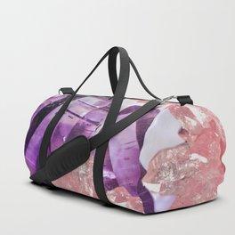 PURPLE AMETHYST & PINK CRYSTALS DESIGN Duffle Bag