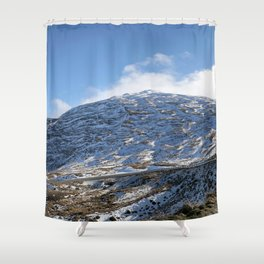The Drive to Cardrona Ski Fields from Queenstown, New Zealand Shower Curtain