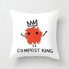 compost king Throw Pillow