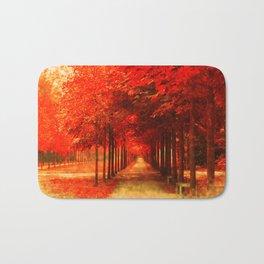 Tree Alley Autumn painted Bath Mat